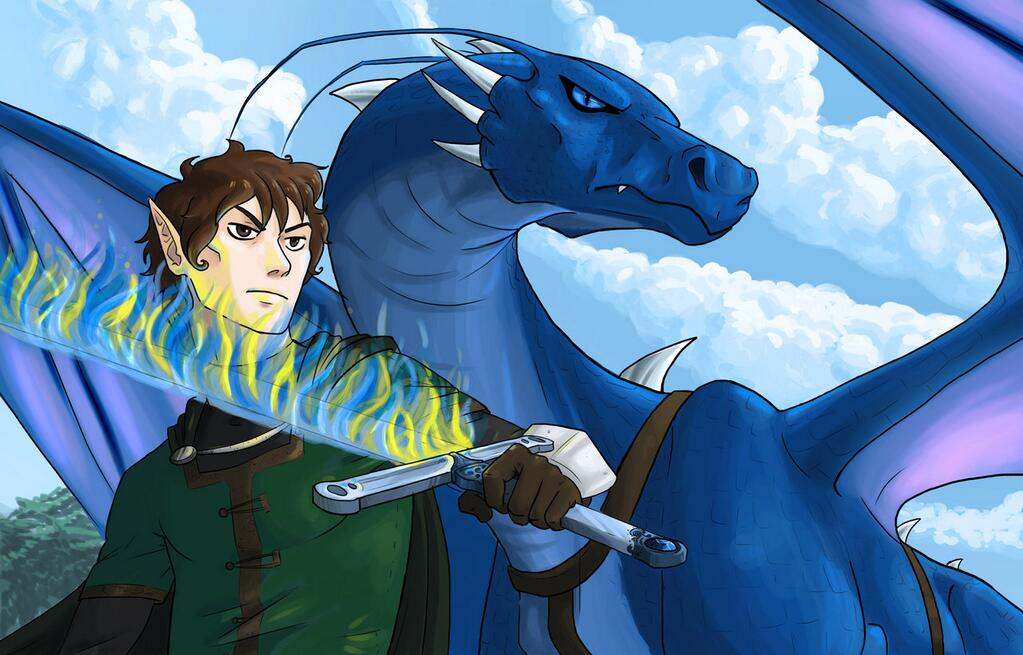 eragon and saphira with brisingr