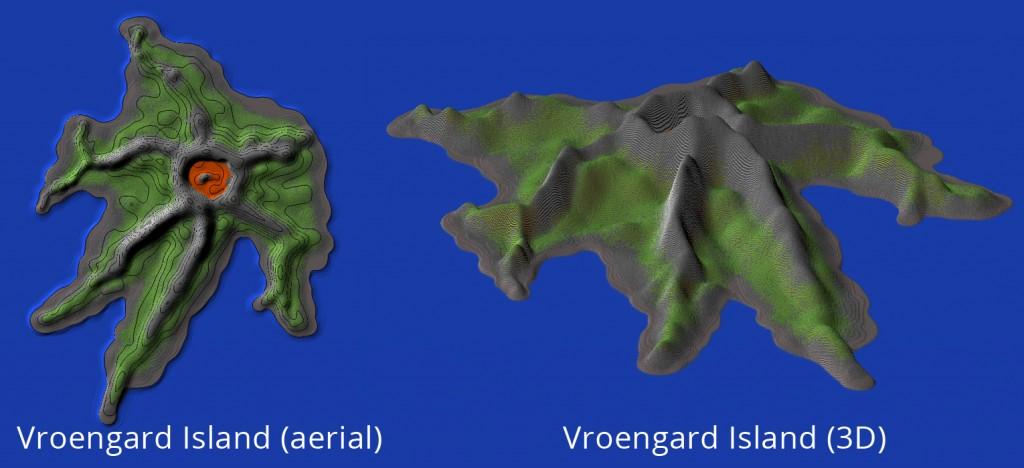 Alagaesia's Vroengard Island